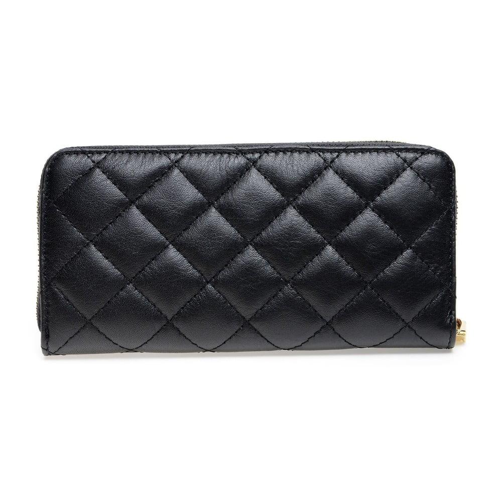 Černá kožená peněženka Roberta M Adelina