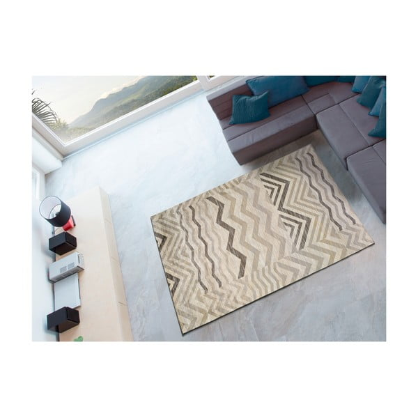 Šedý koberec Universal Belga Aztec, 100 x 140 cm