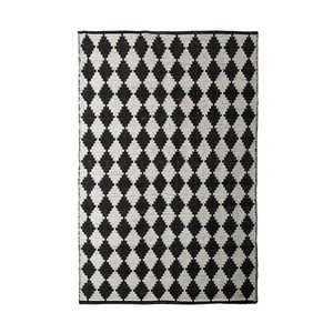 Černobílý bavlněný ručně tkaný koberec Pipsa Diamond, 140x200 cm
