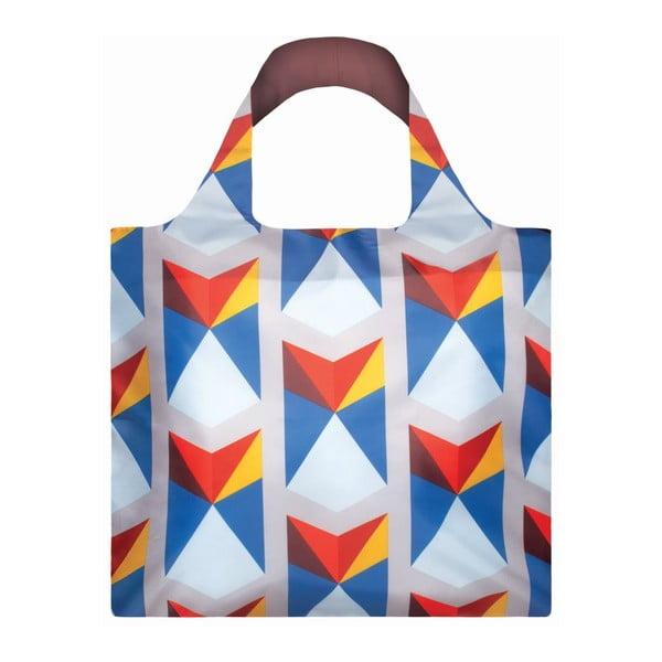 Skládací nákupní taška s kapsičkou LOQITriangles