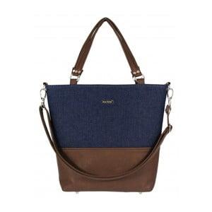 Modro-hnědá kabelka Dara bags Lele No.482