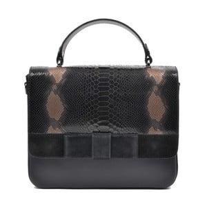 Černá kožená kabelka Mangotti Hadria