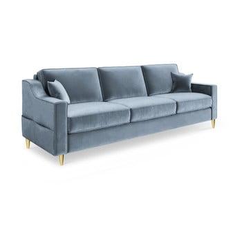 Canapea extensibilă cu 3 locuri Mazzini Sofas Marigold, albastru deschis de la Mazzini Sofas