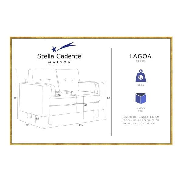 Tmavě červená dvoumístná pohovka Stella Cadente Maison Lagoa