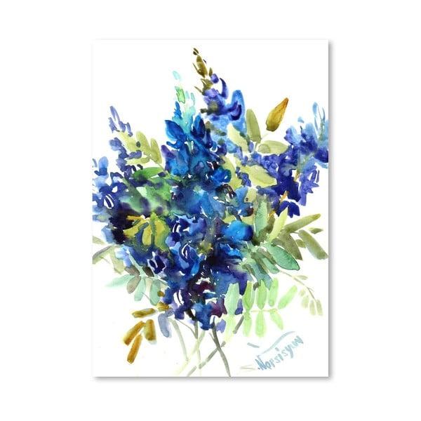 Plakát Blue Flowers od Suren Nersisyan