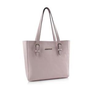 Kožená kabelka Boscollo Grey Pink3328