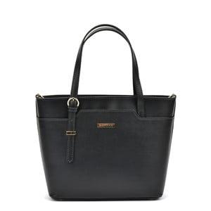 Černá kožená kabelka Mangotti Bags Avril