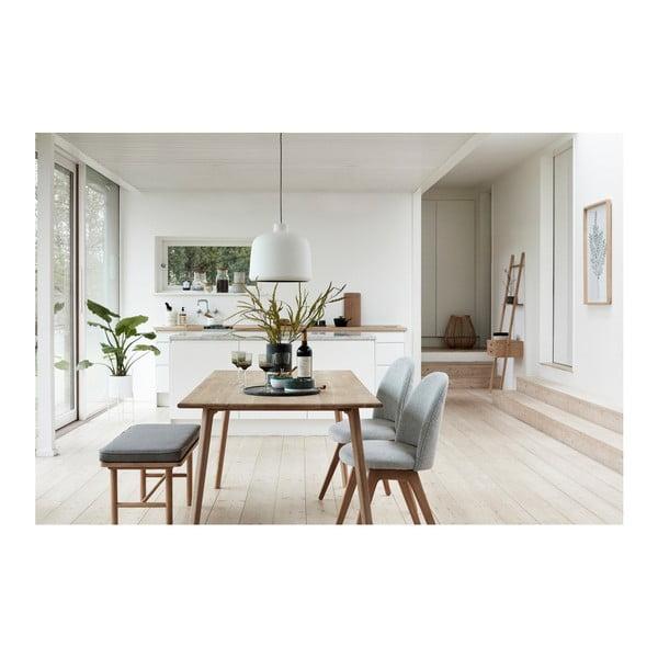 Světle šedá jídelní židle s nohami z dubového dřeva Hübsch Gisla
