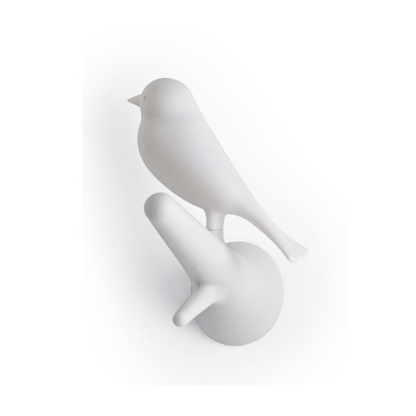 Set 4 háčků vrabčáci, bílá/bílá