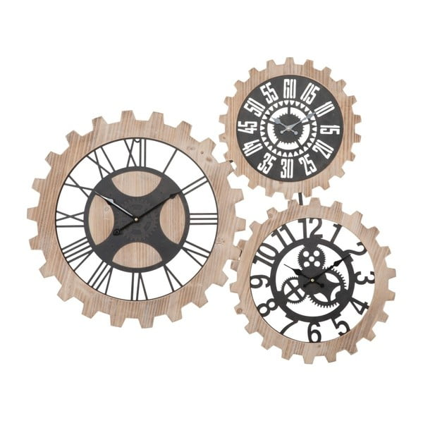 Trojité nástenné hodiny Mauro Ferretti Gears