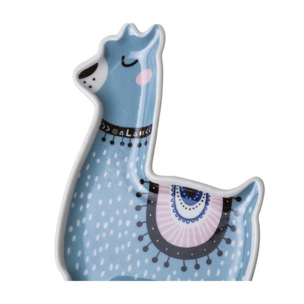 Sada 2 porcelánových tácků Unimasa Lama,délka 15 cm