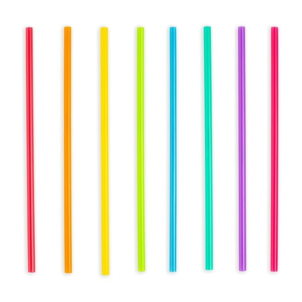 Sada 24 plastových brček Kikkerland Party, délka 20 cm