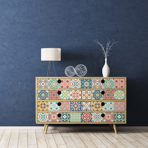 Set 60 autocolante pentru mobilă Ambiance Oriano, 20 x 20 cm