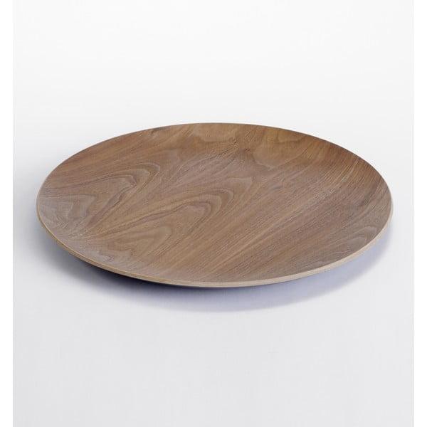 Dřevěný podnos a deska ke stolku Range, tmavé dřevo