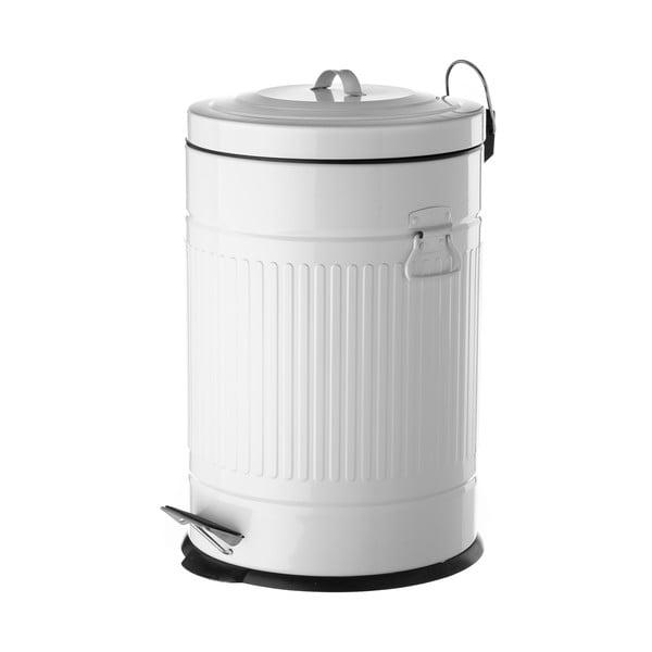 Coș de gunoi din metal, Unimasa, 20 l, alb