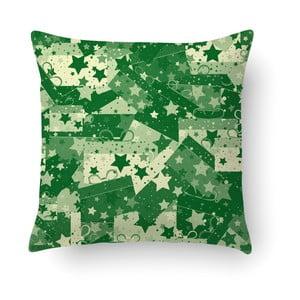 Zelený polštář Crido Consulting Christmas Wrapers, 40 x 40 cm