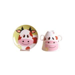 Dětský snídaňový set z kostního porcelánu Silly Design Sweet Cow