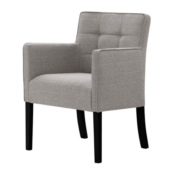Šedohnědá židle s černými nohami z bukového dřeva Ted Lapidus Maison Freesia