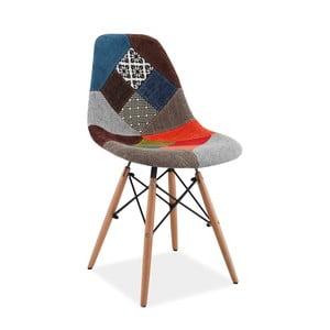 Barevná polstrovaná jídelní židle Signal Simon Patchwork
