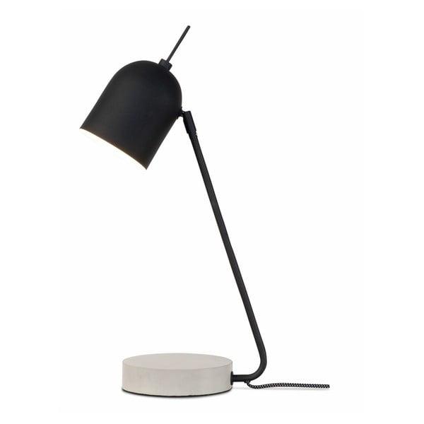 Černá stolní lampa s betonovým podstavcem Citylights Madrid