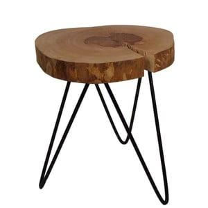 Odkládací stolek s deskou z dubového dřeva HSM collection Roxy, výška52cm