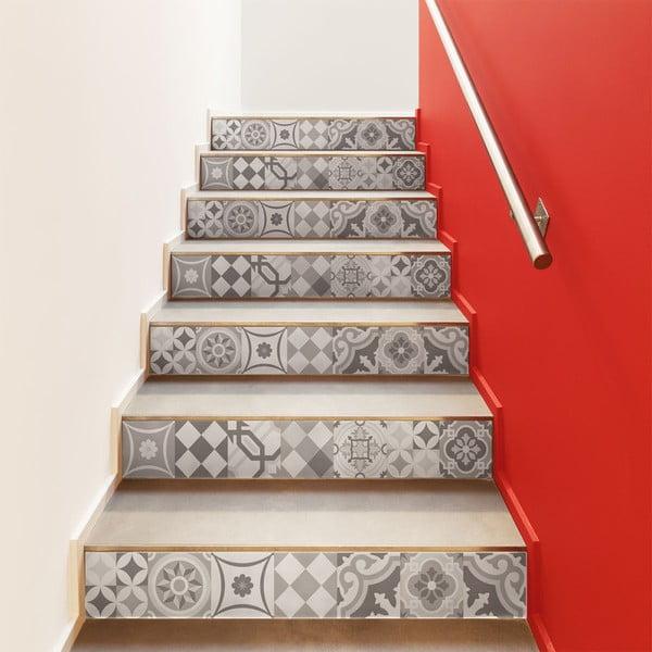 Sada 2 samolepek na schody Ambiance Stickers Stair Adamo, 15 x 105 cm