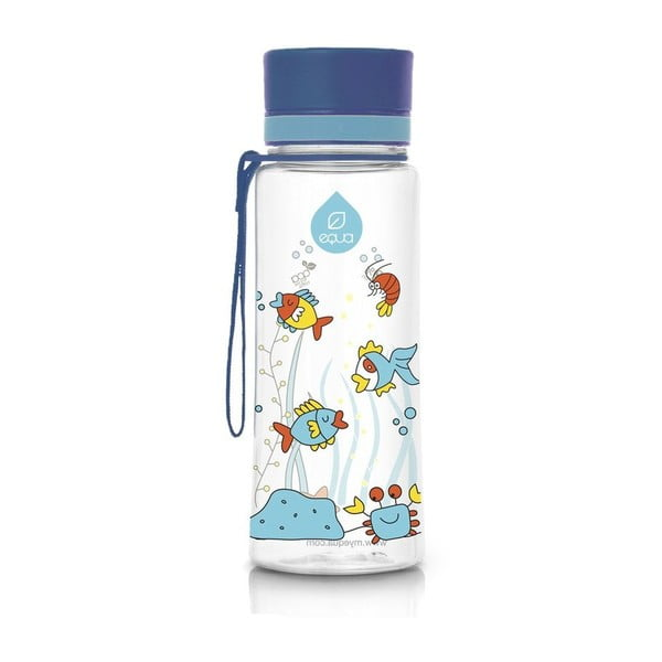 Modrá plastová lahev Equa Equarium, 0,6 l