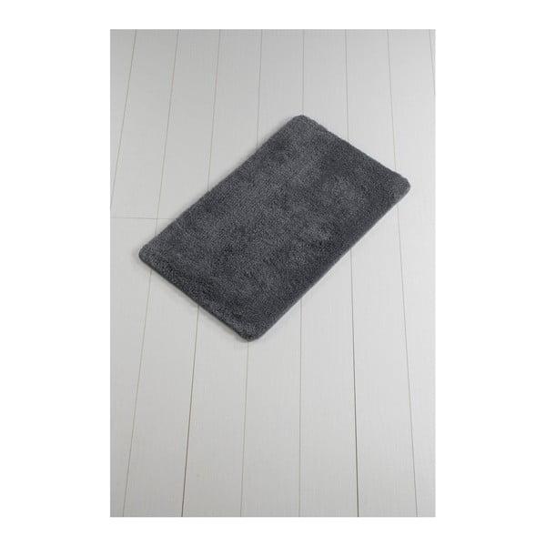 Tmavosivá kúpeľňová predložka Minto Duratto, 100 × 60 cm