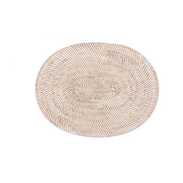 Suport din ratan pentru farfurie Tiseco Home Studio, 30x40cm, alb