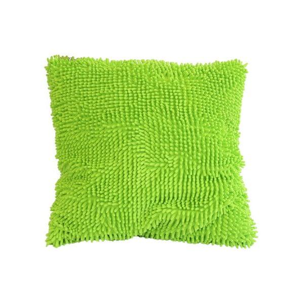 Střapatý polštář, zelený