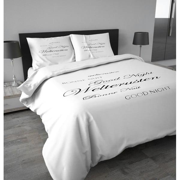 Flanelové povlečení Good Night 140x200 cm, bílé
