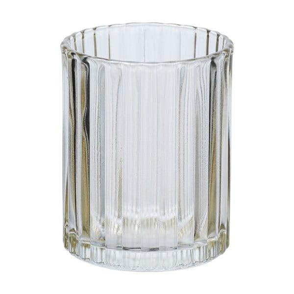 Suport sticlă pentru periuțe de dinți Wenko Vetro, bej