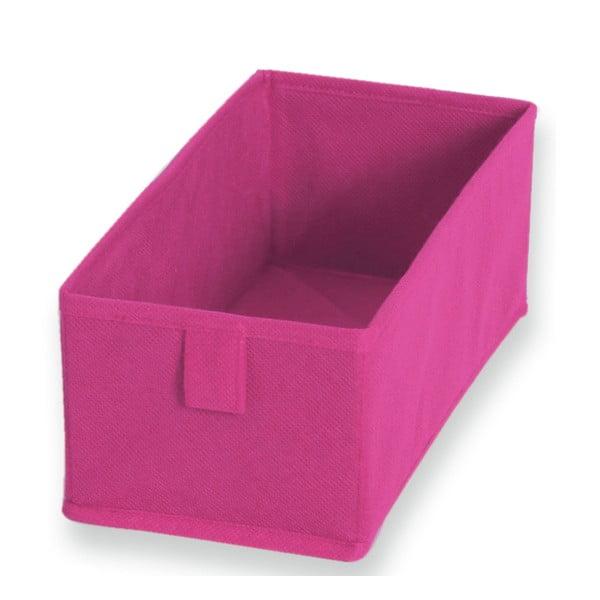 Sada 2 růžových textilních boxů JOCCA, 28x13cm