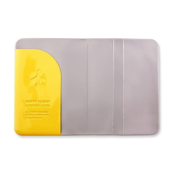Stylové pouzdro na pas, Žluté