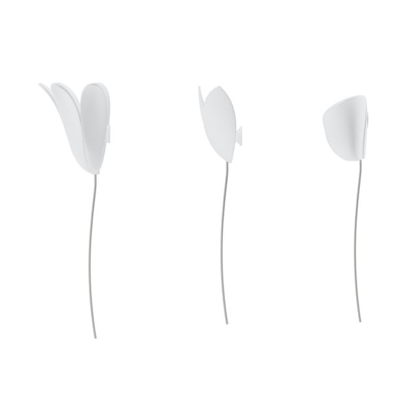 Set 3 decorațiuni de perete 3D Umbra Bloomer, alb