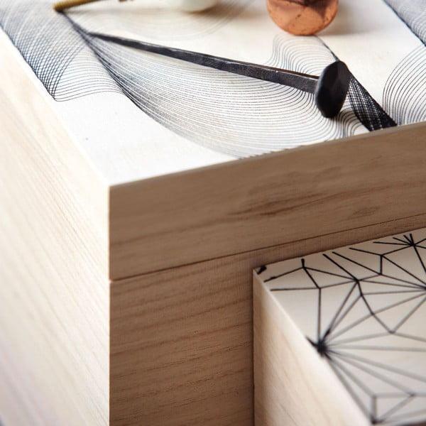 Sada 3 dřevěných boxů Graphic
