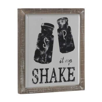 Poster metalic cu ramă din lemn Geese Shake