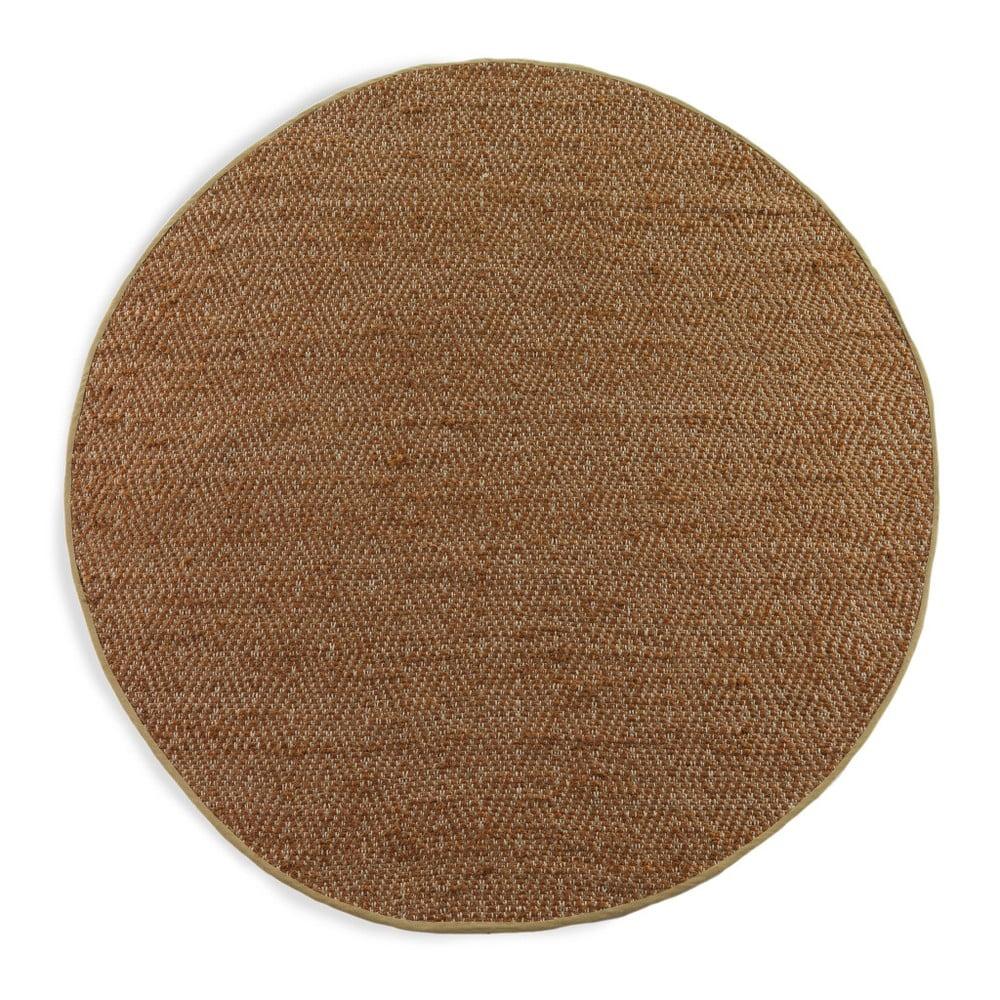 Hnědý koberec Geese Maine, Ø 120 cm