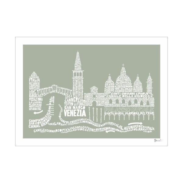 Plakát Venezia Grey&Grey, 50x70 cm