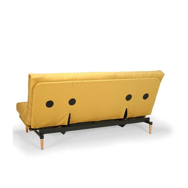 Žlutá rozkládací pohovka Innovation Colpus