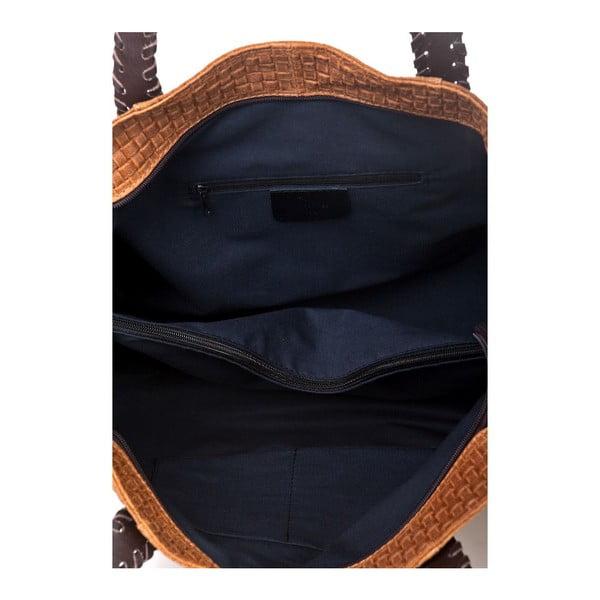 Kožená kabelka Markese 1156 Cognac