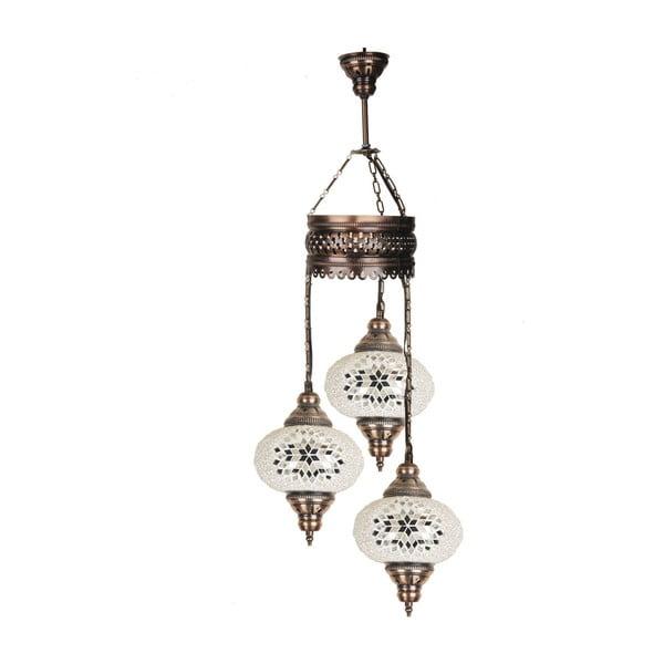 Skleněná ručně vyrobená závěsná lampa Rebecca, ⌀17cm