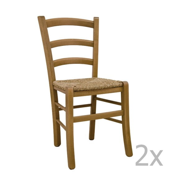 Sada 2 židlí Castagnetti Lavagna, dub