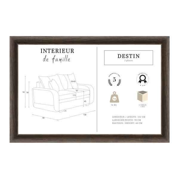 Karamelově hnědá dvoumístná pohovka INTERIEUR DE FAMILLE PARIS Destin