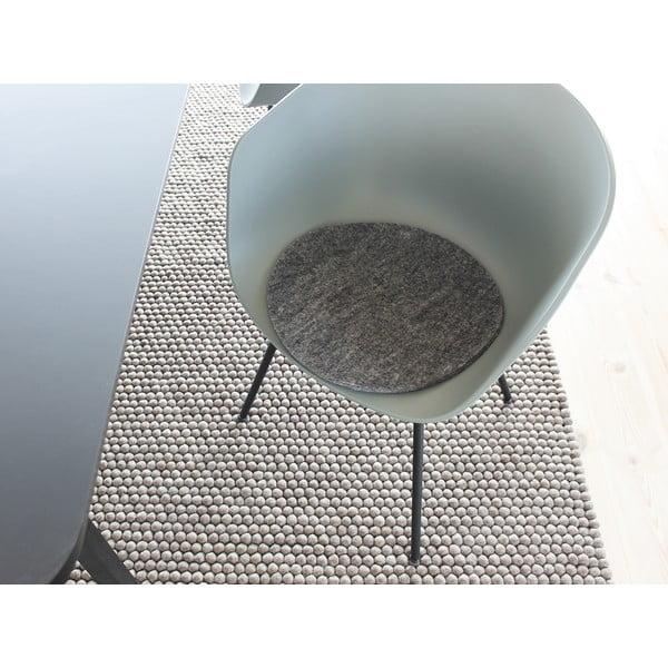 Felt Chair Pad antracit kötött gyapjú székpárna, ⌀ 40 cm - Wooldot