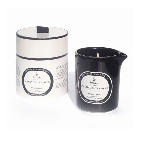 Lumânare pentru masaj cu aromă de iasomie, lemn și rozmarin,Parks Candles London Inspiring, timp de ardere 50 de ore