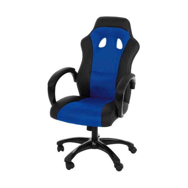 Niebiesko-czarne krzesło biurowe na kółkach Actona Major