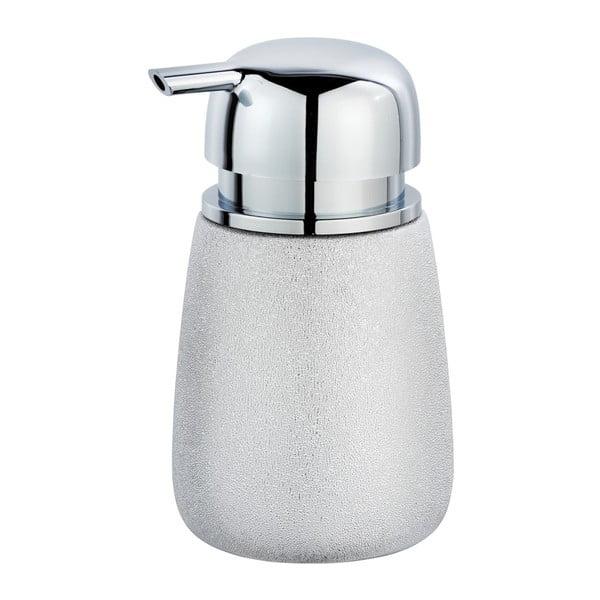 Keramický dávkovač na mydlo v striebornej farbe Wenko Glimma