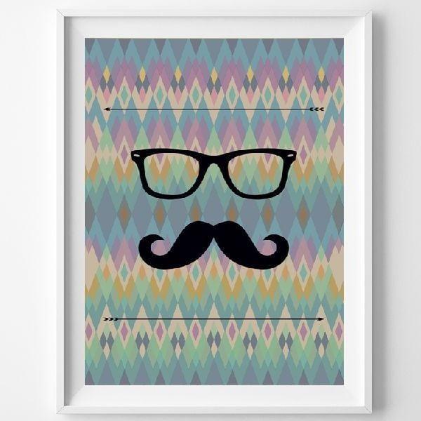 Plakát Le Moustache, A3