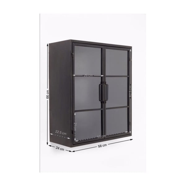 Černá vitrína Kare Design Gold Coast, 66x56cm